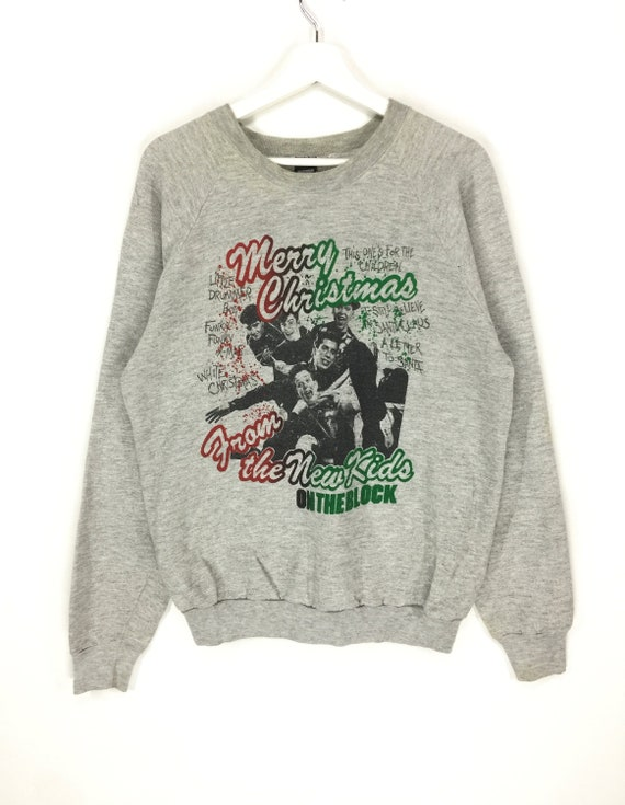 fashion huge hip Kid Rare tee graphic hop 90s On Block New swag merry christmas rap The sweatshirt vintage wgq0Z75xq