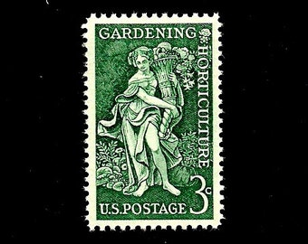 10 GARDENING -Free Shipping- Pack of (10) - Gardening and Horticulture - Vintage Unused U.S. Postage Stamps - Post Office Fresh!