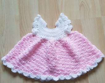 0-3 months pink baby dress and poncho