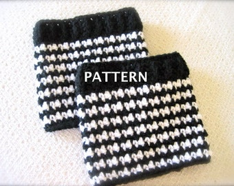Crochet houndstooth etsy boot cuff pattern crochet pattern boot cuffs houndstooth for women dt1010fo