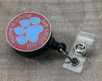 Nursing Badge Reel - Vet Badge Holder - Badge Reel- Live Love Heal - Nurse Badge Holder - Retractable ID Badge Reel - Badge Holder