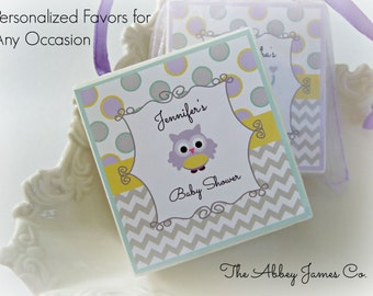 Baby Shower, Party Favors, Owl and Elephant, Unisex, set of 10