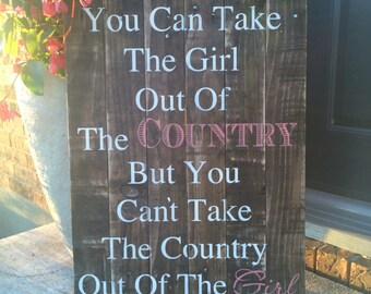 Country Girl Handmade Sign