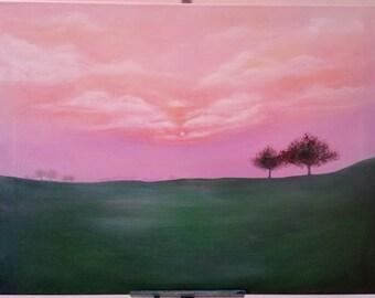 Acrylic painting-Morning