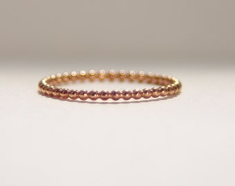 ROSE Gold Filled unique dotted eternity band thin, skinny, dainty, thumb finger ring. Stack, stacker, stacking 14k gold fill ring
