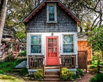 Gingerbread Cottage, Oak Bluffs, Martha's Vineyard - Photographic Print on Glossy Paper or Vibrant Metal - Contemporary Fine Art Photography