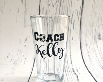 Glass Coach Beer Glass, Glass Coach Beer Mug, Coach Gift, Gift for Coach, Coach Cup, Coach Glass, End of Season Gift for Coach, 22 oz Mug