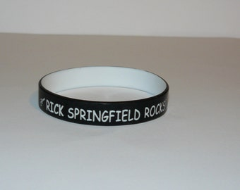 Rick Springfield Rocks! Handmade Silicone Bracelet