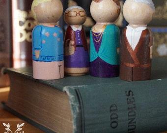 The Golden Girls Peg Doll Set