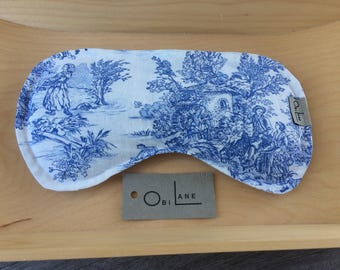 Lavender and Flaxseed -   Toile and Ticking Eye Pillow