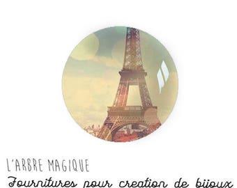 Paris Eiffel Tower 2 stick 18 mm glass Cabochons
