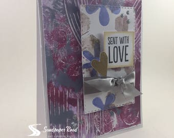 Sent With Love - love greeting card