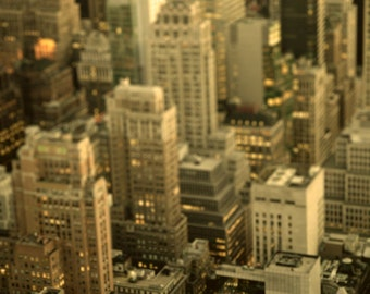 New York City photo, dusk, evening, magic hour - Dusk in the City -  8x10 fine art photograph