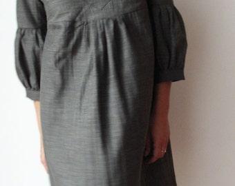 Dress or Tunic - My Garden - Green Kaki  color