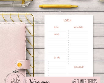 "DAILY PLANNER UNDATED | Planner Printable Inserts A5 | ""Diva Planner Collection"""