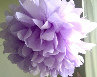 1 Lilac Tissue Paper Pom Pom, Paper Poms, Wedding tissue paper poms, paper pom poms, tissue flowers, birthday party decor