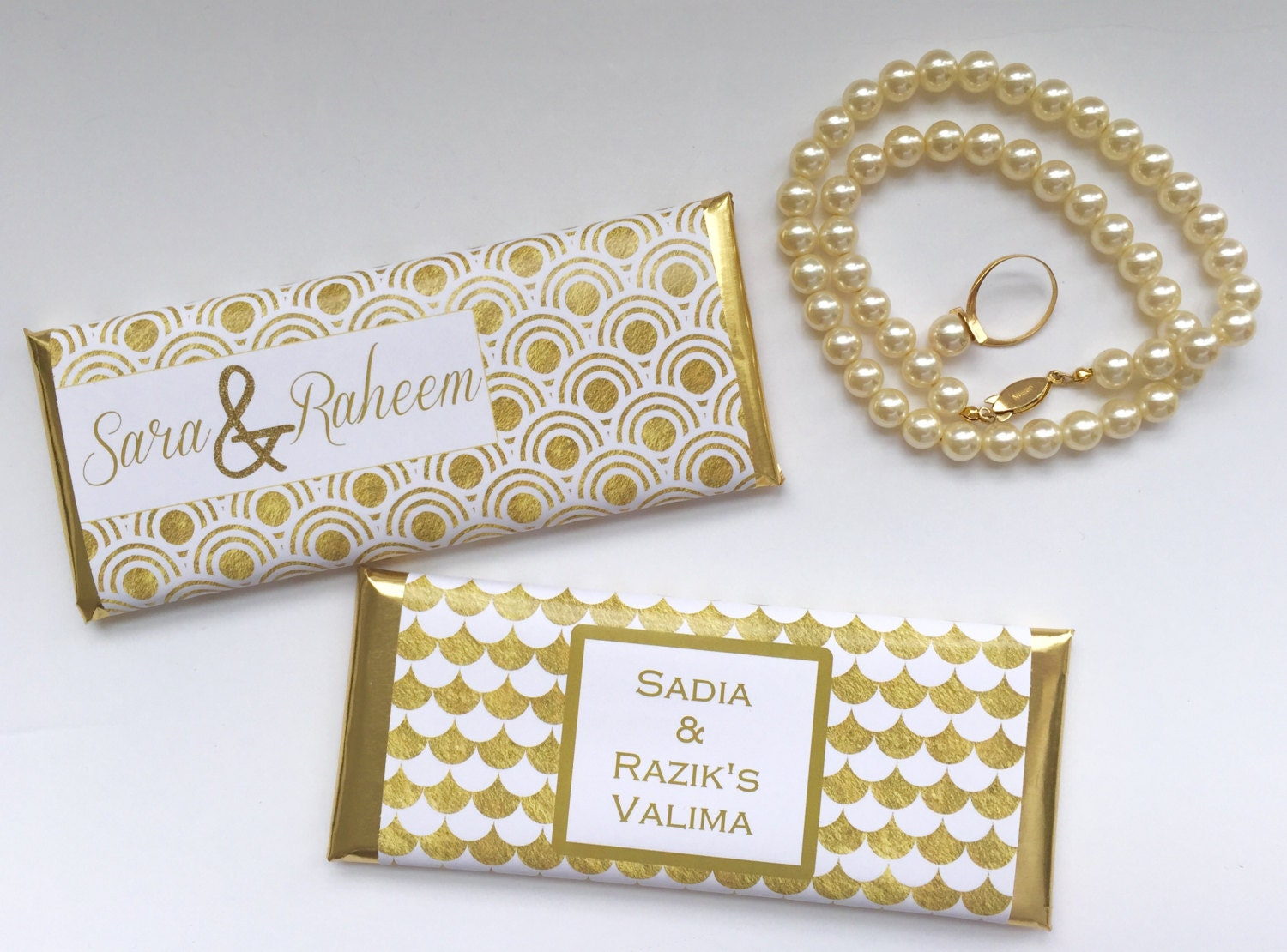 Gold and white wedding, White and gold, personalized wedding favors ...
