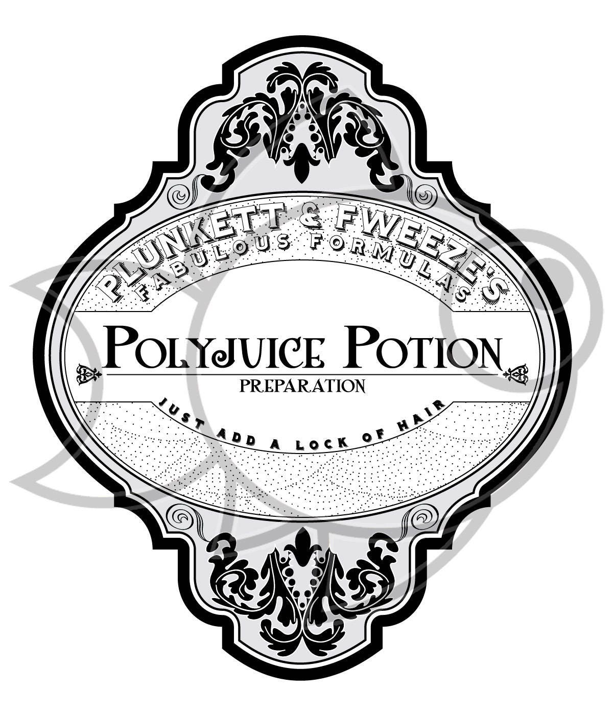 Polyjuice Potion Labels from moderngoldfish on Etsy Studio