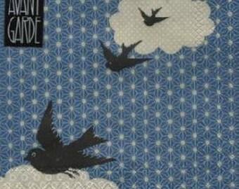 423 birds in flight 1 lunch size paper towel
