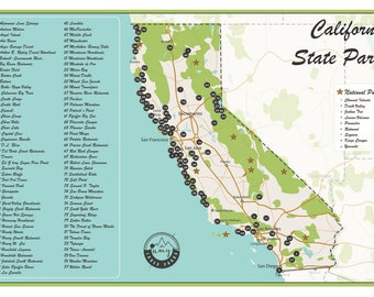 11x17 state park checklist california state parks map publicscrutiny Image collections