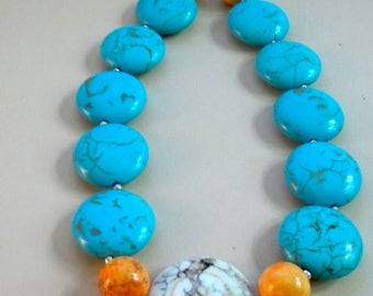 Bold Magnesite Necklace