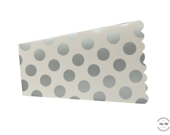 Popcorn Box with DOTS silver white