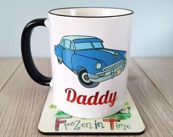 Vintage car mug fathers day gift car mug coffee mug classic car mug dad mug car lover gift mechanic mug car enthusiast personalized mug