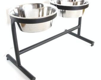 Large Dog Feeder, Modern Metal Pet stand, Elevated Dog Bowl, Elevated Dog Feeder, Dog Furniture, Raised Dog Feeder, Dog Bowl Stand, Custom