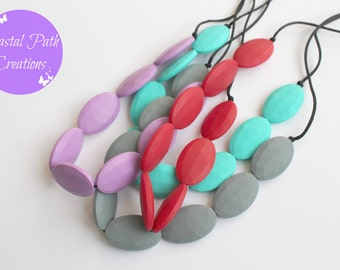 Teething necklace, breastfeeding/nursing necklace, for mums to wear - NEVADA