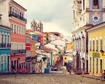 Brazil Photography, Bahia Photos, Salvador Wall Art, Colorful Painted Houses