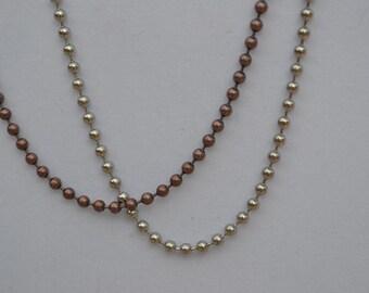 BALL CHAIN Necklace Copper or Silver Color