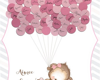 Baby Shower Guest Book Alternative Print - Ballerina Monkey