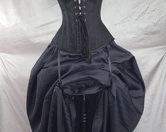 "Blue Black Full Length Bustle Skirt-One Size Fits Up To A 52"" Waist"