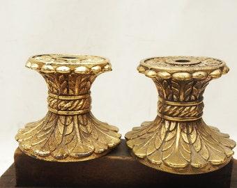 "2 Vintage Cast Metal Lamp Break Spacer Column LAMP PART Restore Repurpose 2-7/8""H  Assemblage Steampunk Craft Supply"