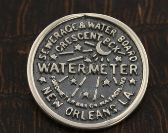 LARGE New Orleans, Water Meter, Pendant, Charm, Sterling Silver, Louisiana, Must Have, 925, Made In New Orleans