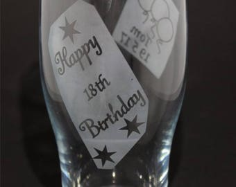 18th Birthday Pint Glass