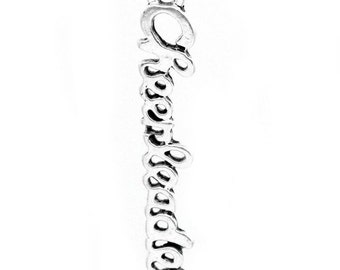 """5 Pieces Antique Silver Carved """"Cheerleader"""" Charms"""