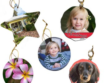 Custom, Personalized Christmas Tree Ornaments