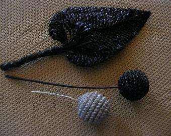 Three Hat years 1900 1930; straw braided; crafts accessories