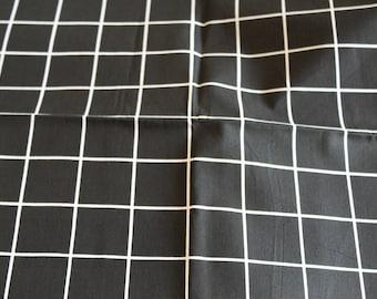 Fabric coupon 50 x 70 cm Plaid black and white