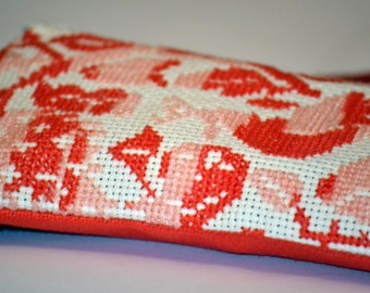 Handmade Embroidered Cosmetic / Pencil Case