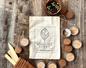 Herbal Tea Garden Seed Kit, Herbal Tea Seeds, herb garden kit, herb seeds, herbal tea kit, herbal tea garden seeds, herb seed kit