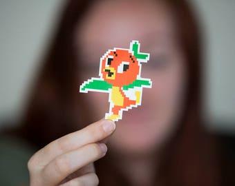 Pixel Disney Orange Vogel 3-Zoll-Aufkleber, geben Kinder die Welt-fundraiser