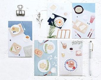Meal Breakfast Postcard Set of 30 cards S14