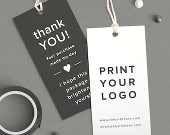 Custom Logo Labels, Printed logo tag, Thank You coupon, Product tags, Custom Product tags, Thank You tag, Custom Hang tags,  business card