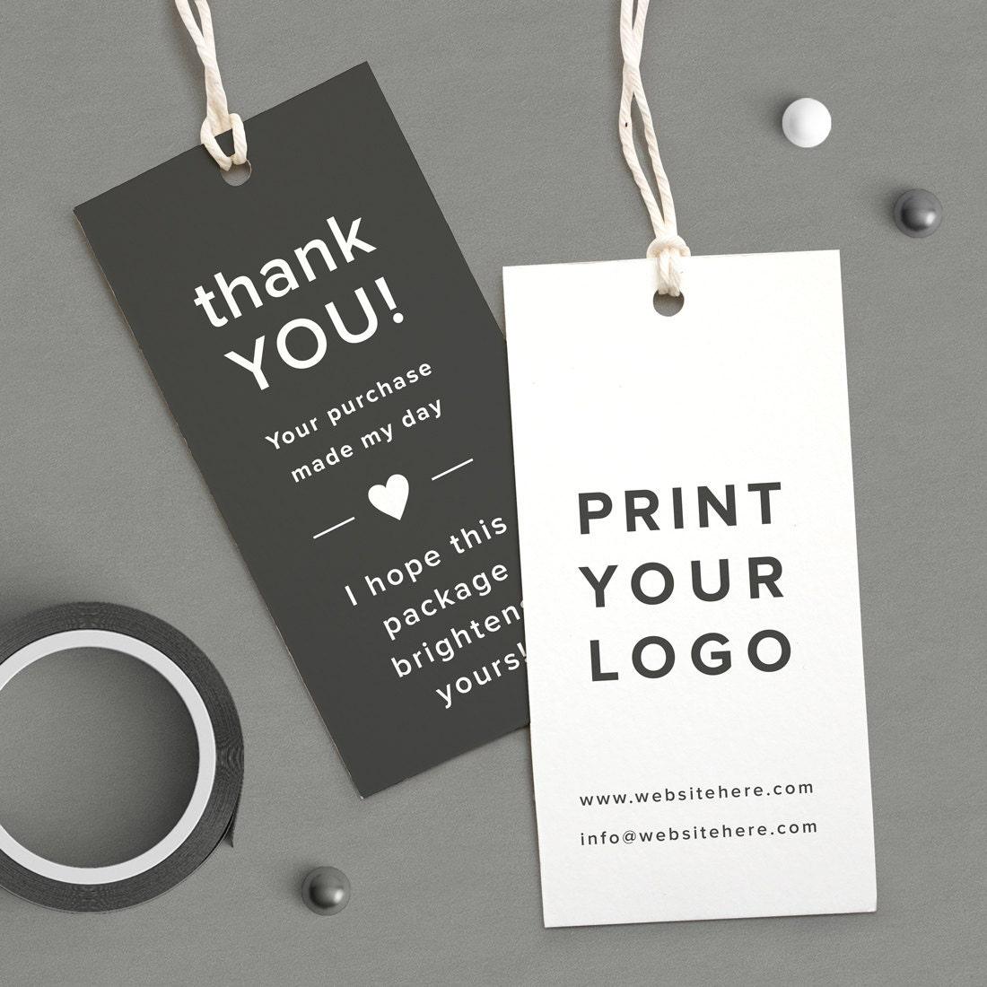 Custom Logo Labels Printed logo tag Thank You coupon