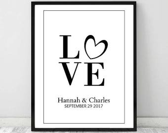 Personalized Wedding Print, Wall Art, Gift for couple, Wedding printable, Printable Decor, Wedding Gift, Digital Download, Printable Art