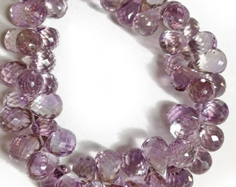 Amethyst micro-faceted teardrops, AA+ grade.  Approx. 7.5x10.5mm - 7.5x11.5mm.   Select a quantity.