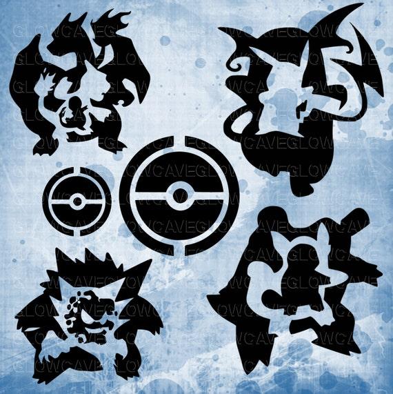 Pokemon Silhouettes Svg File Pokemon Clip Art Pokemon Svg