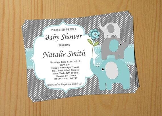 Junge Baby Dusche Einladung Elefant Baby Dusche Einladung Baby